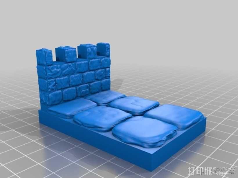 OpenForge雉堞墙 3D模型  图9