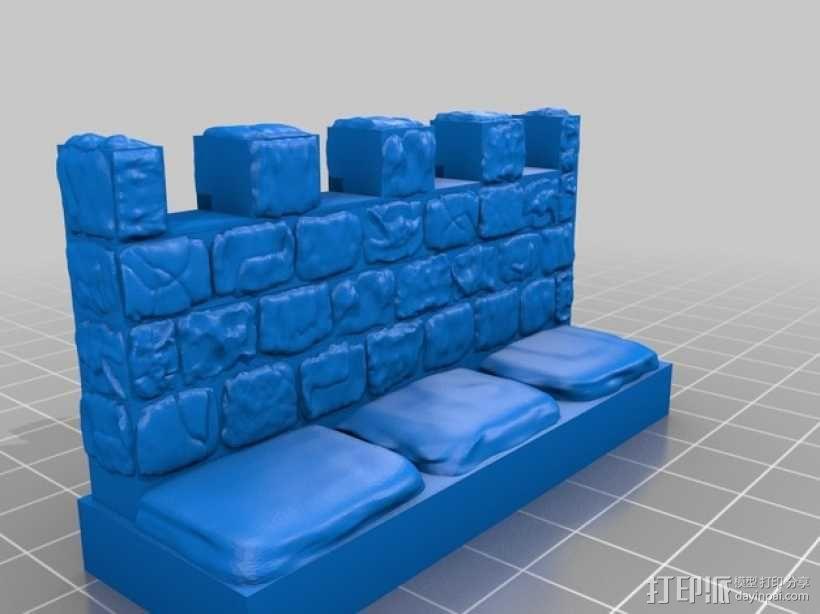 OpenForge雉堞墙 3D模型  图11