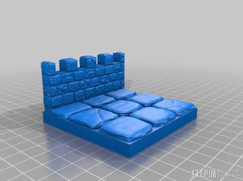 OpenForge雉堞墙 3D模型  图13