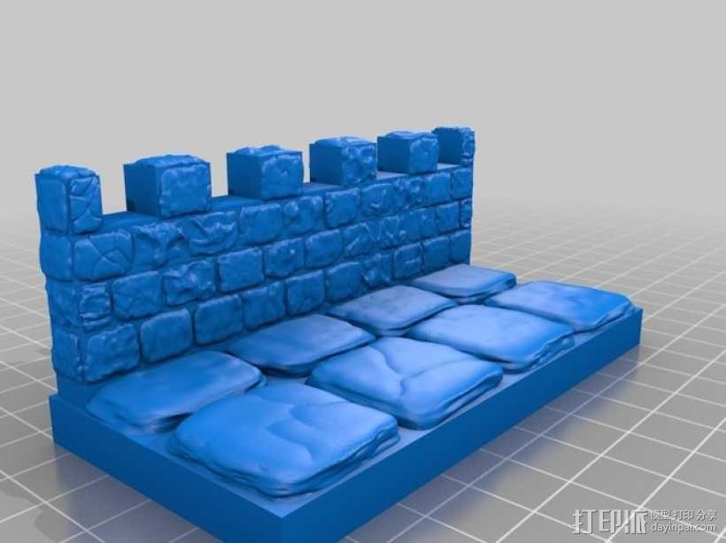 OpenForge雉堞墙 3D模型  图15