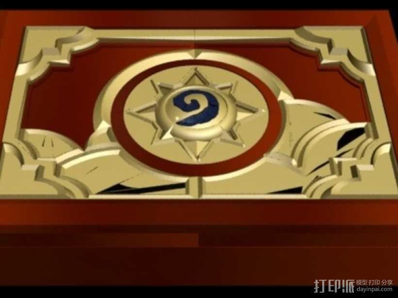 《炉石传说》游戏盒 3D模型  图1
