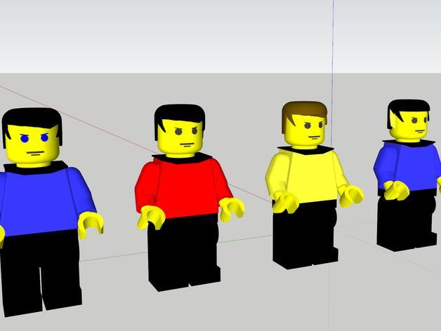 乐高星际迷航人物模型 3D模型  图6
