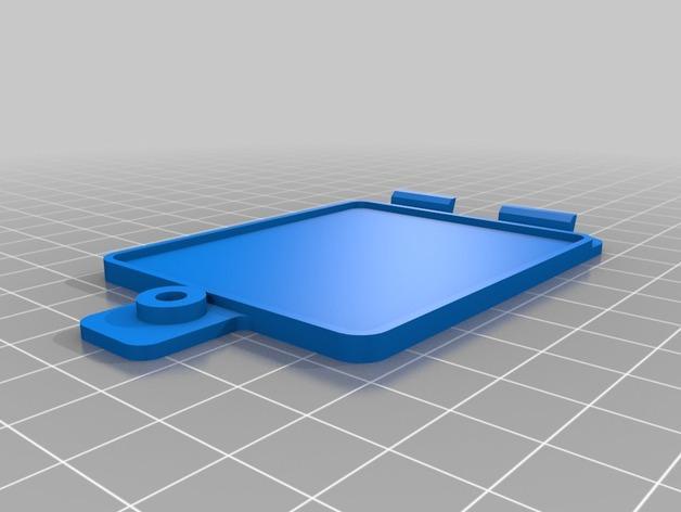 玩具火车电池盖模型 3D模型  图2