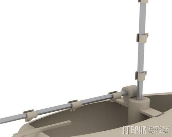 迷你帆船模型 3D模型  图1