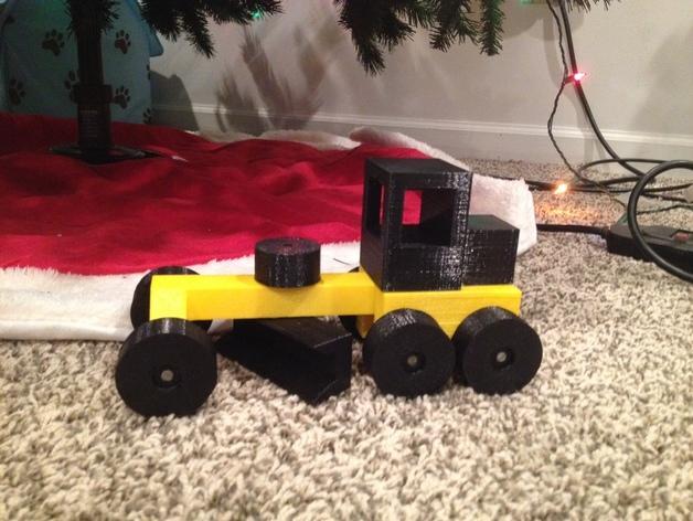 玩具平路机模型 3D模型  图3