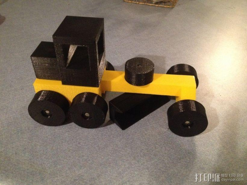玩具平路机模型 3D模型  图1