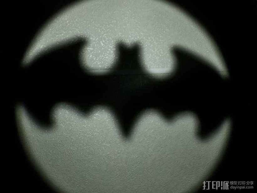 蝙蝠型LED照明灯 3D模型  图3