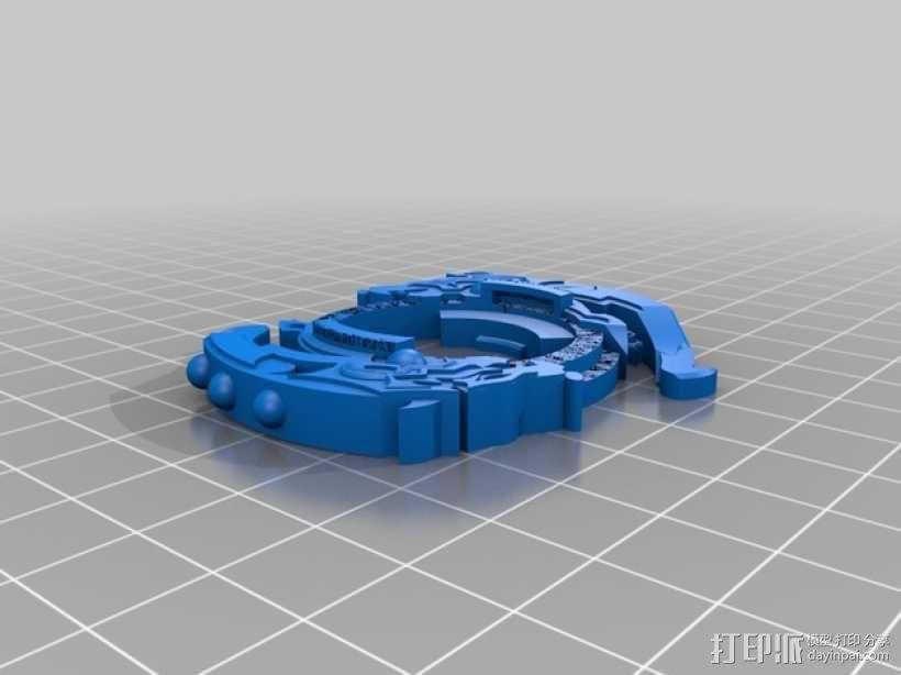 战斗陀螺攻击环模型 3D模型  图3