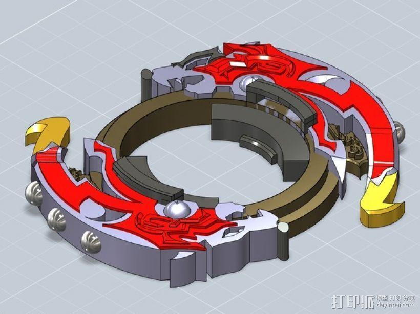 战斗陀螺攻击环模型 3D模型  图9