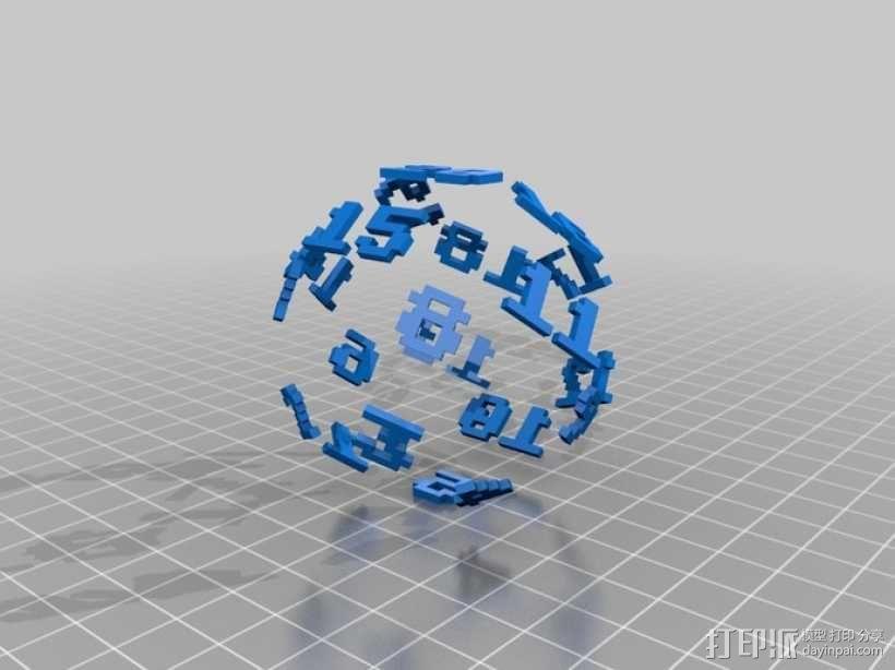 二十面骰子模型 3D模型  图3