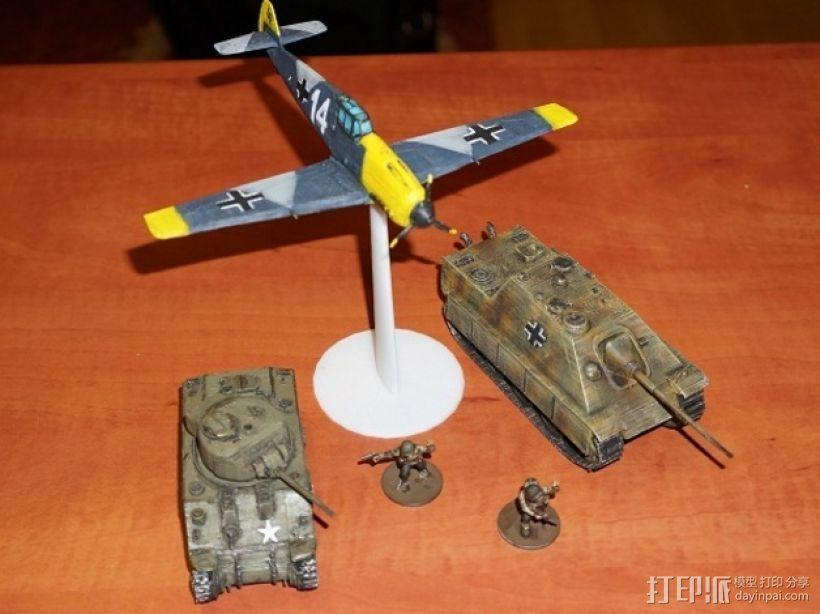 战争游戏:梅塞施米特式战斗机 3D模型  图1