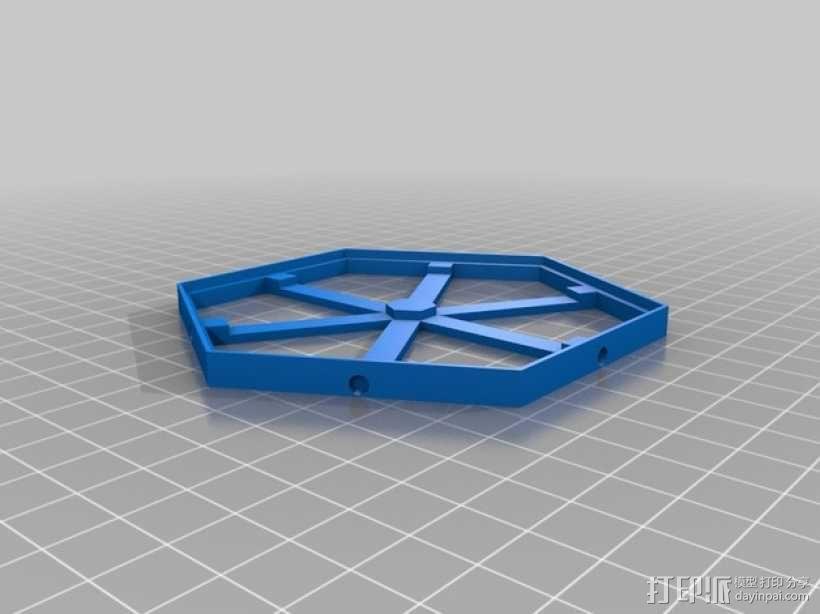 磁力六贯棋瓦片模型 3D模型  图1