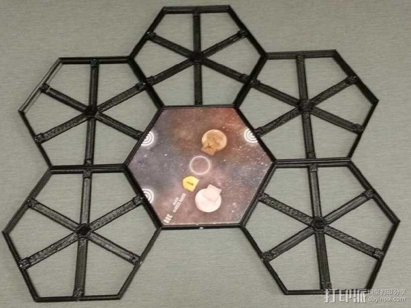 磁力六贯棋瓦片模型 3D模型  图2