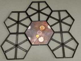 磁力六贯棋瓦片模型 3D模型