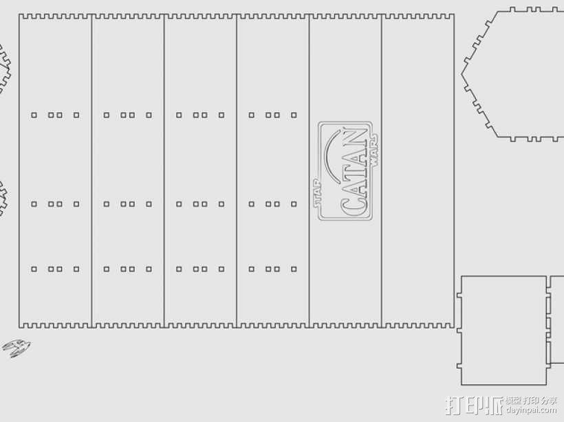 星球大战游戏盒 3D模型  图2