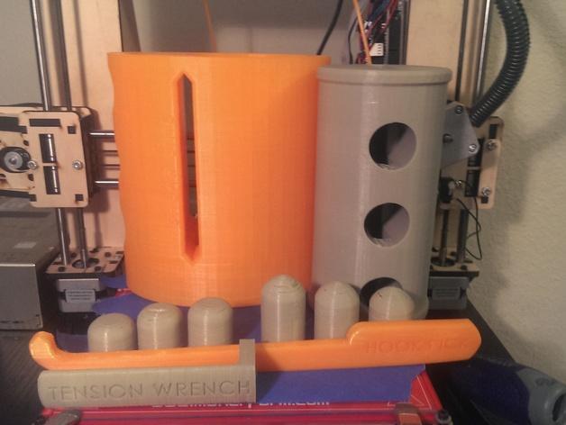 EZpick弹子锁模型 3D模型  图4