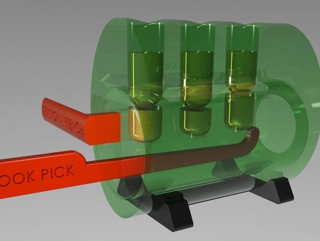 EZpick弹子锁模型 3D模型  图5