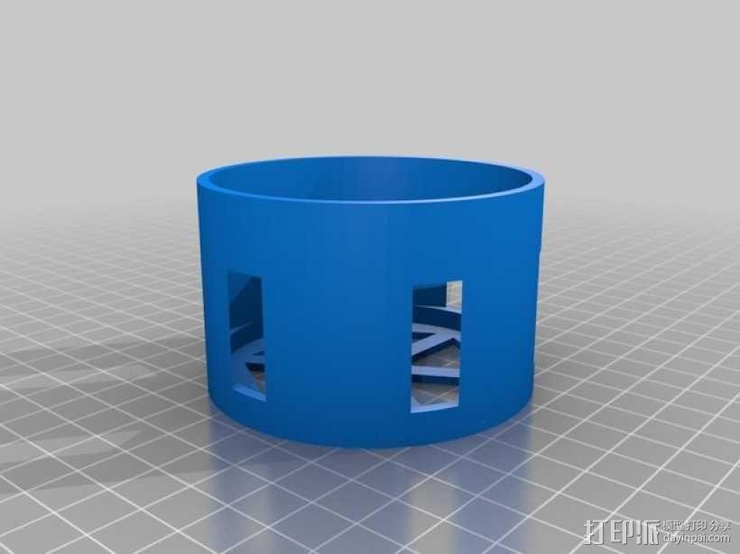 迷你瓶盖陀螺模型 3D模型  图3