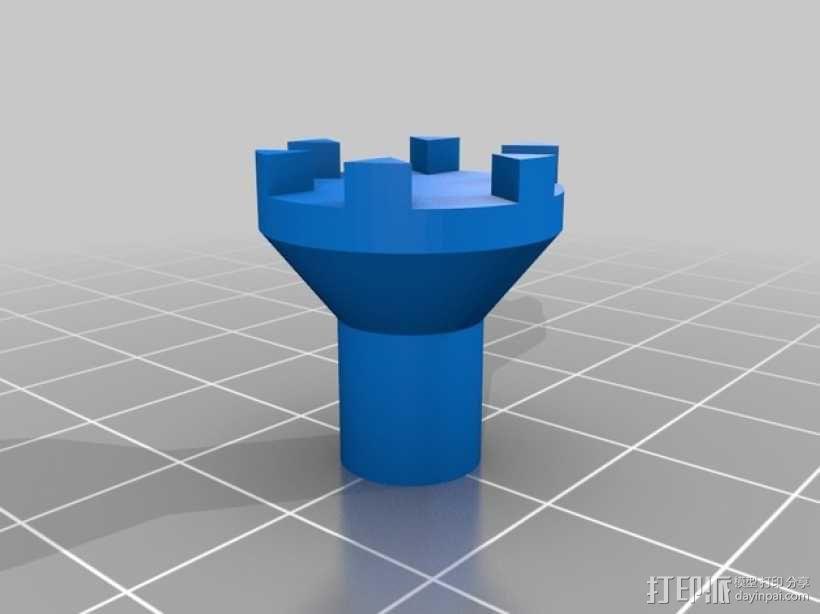 迷你瓶盖陀螺模型 3D模型  图5