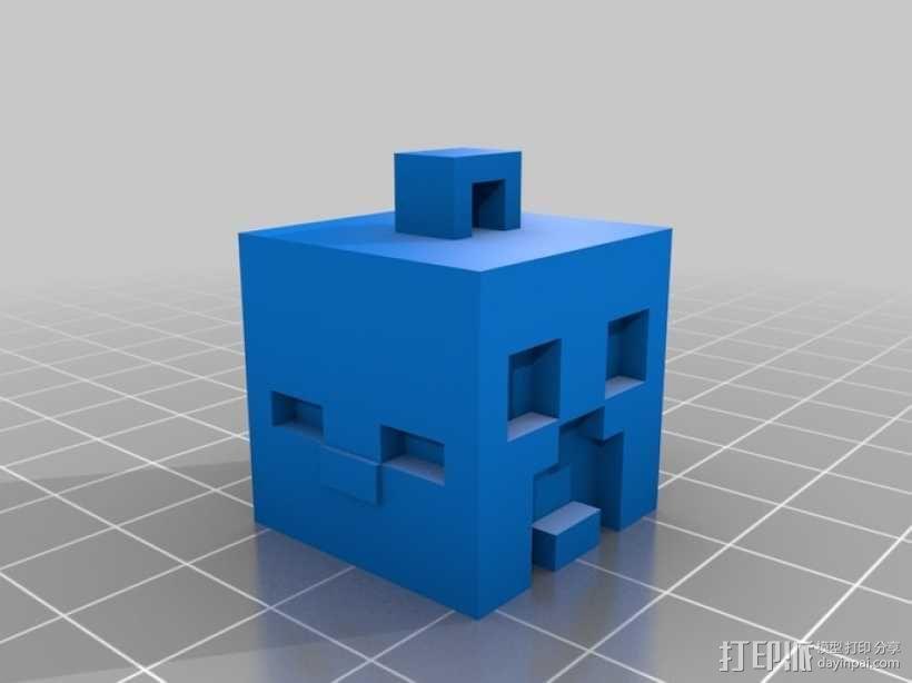 Minecraft人物钥匙扣模型 3D模型  图2