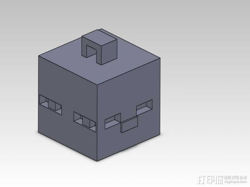Minecraft人物钥匙扣模型 3D模型  图4