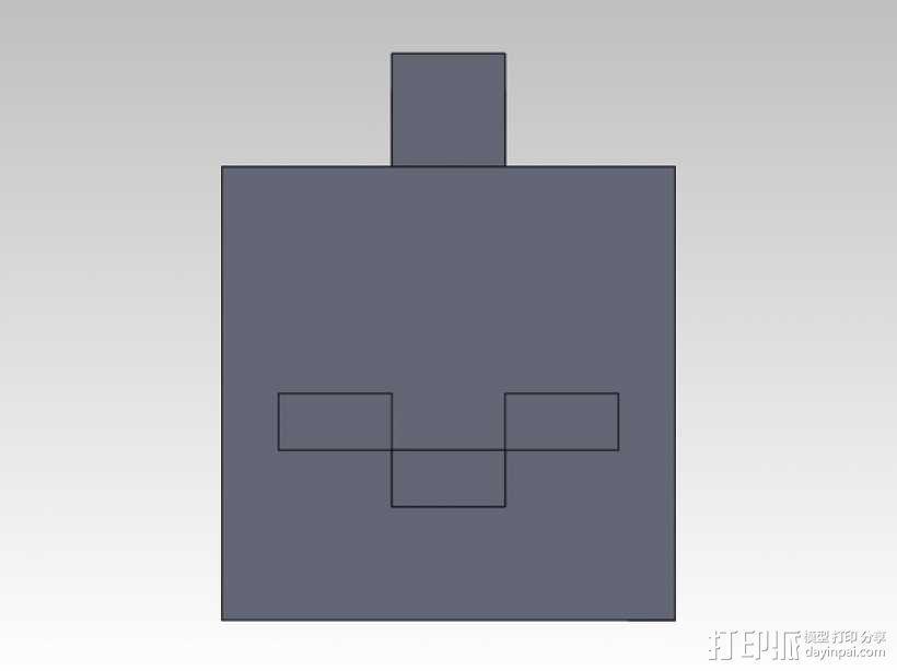 Minecraft人物钥匙扣模型 3D模型  图8