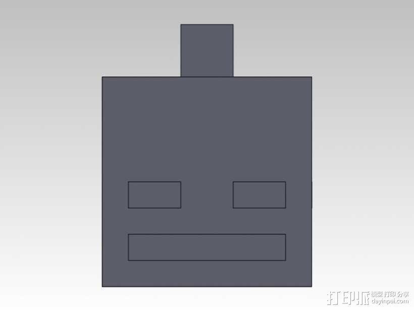 Minecraft人物钥匙扣模型 3D模型  图7