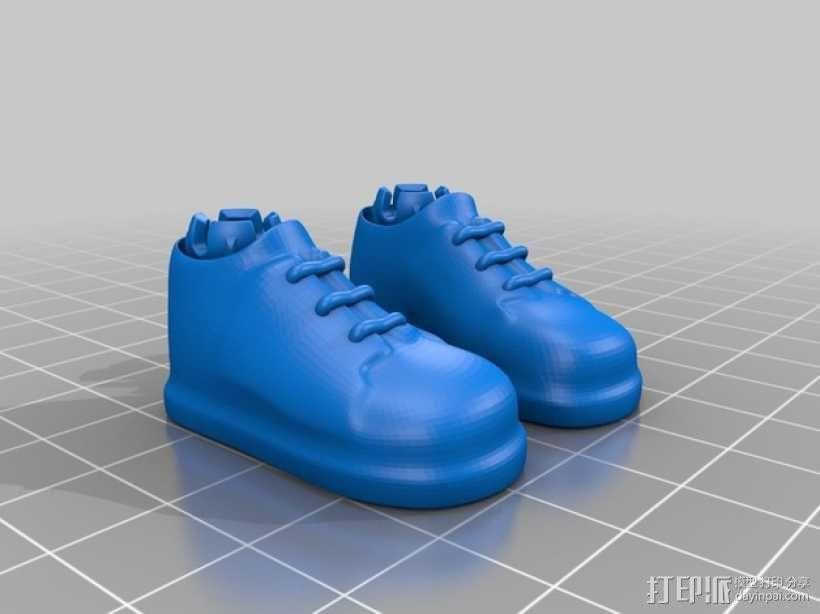 Makies布洛克鞋 3D模型  图2