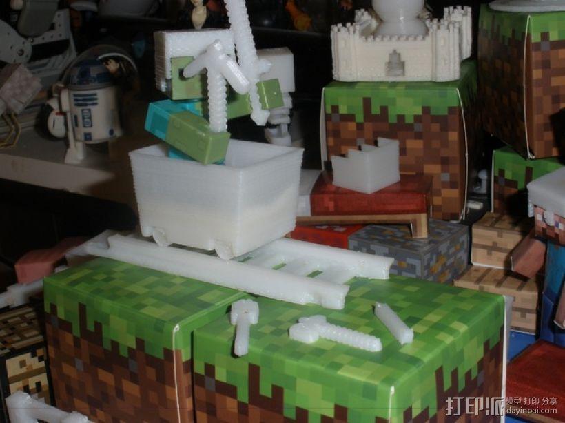 Minecraft玩偶武器包 3D模型  图1