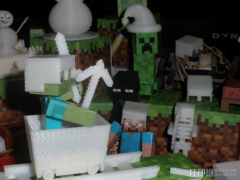 Minecraft玩偶武器包 3D模型  图3