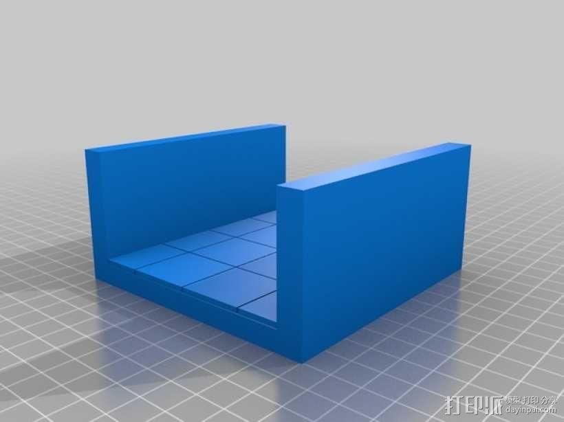 OpenForge平滑走廊瓦片模型 3D模型  图2