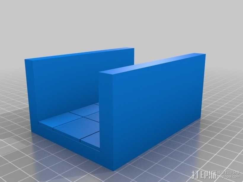 OpenForge平滑走廊瓦片模型 3D模型  图3