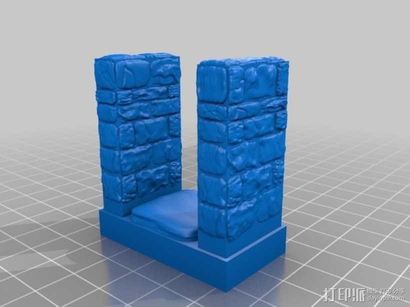 OpenForge雉堞走廊模型 3D模型  图3