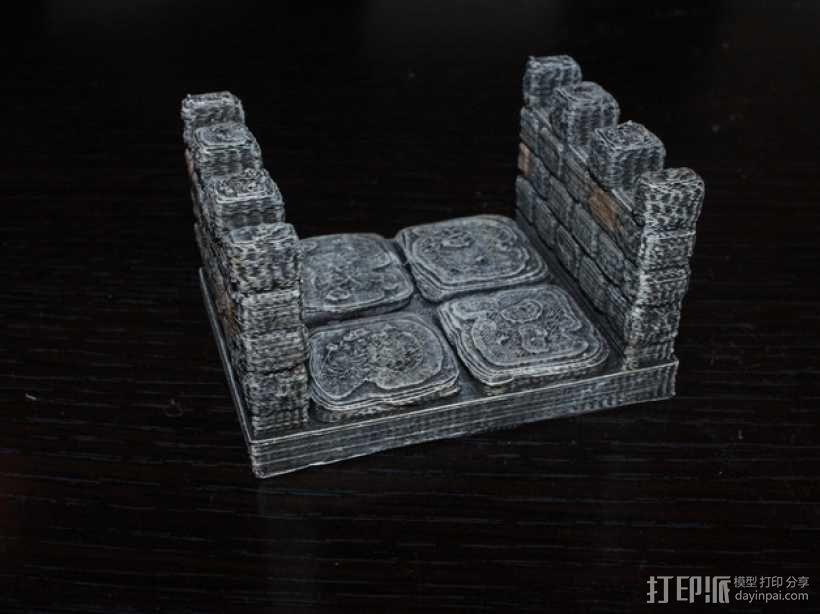 OpenForge雉堞走廊模型 3D模型  图2