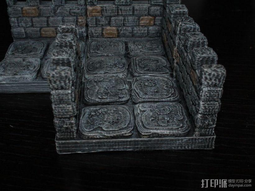 OpenForge雉堞走廊模型 3D模型  图1