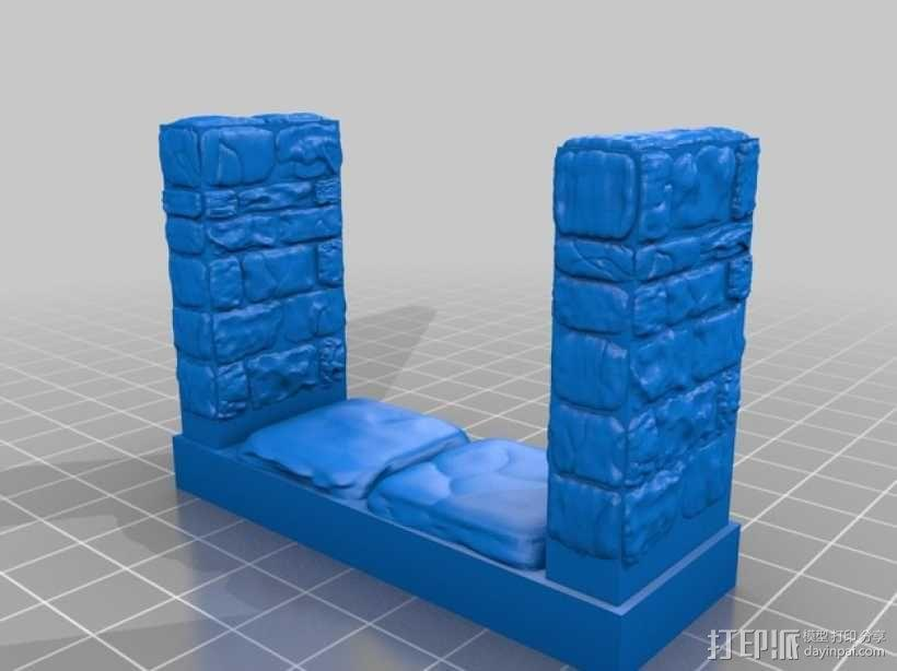 OpenForge雉堞走廊模型 3D模型  图4