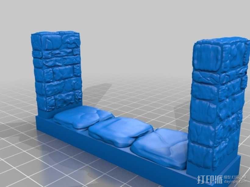 OpenForge雉堞走廊模型 3D模型  图5