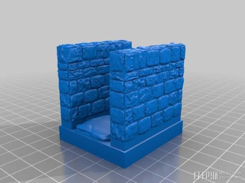 OpenForge雉堞走廊模型 3D模型  图7