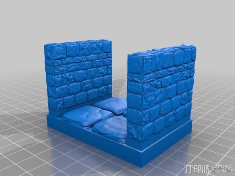 OpenForge雉堞走廊模型 3D模型  图8
