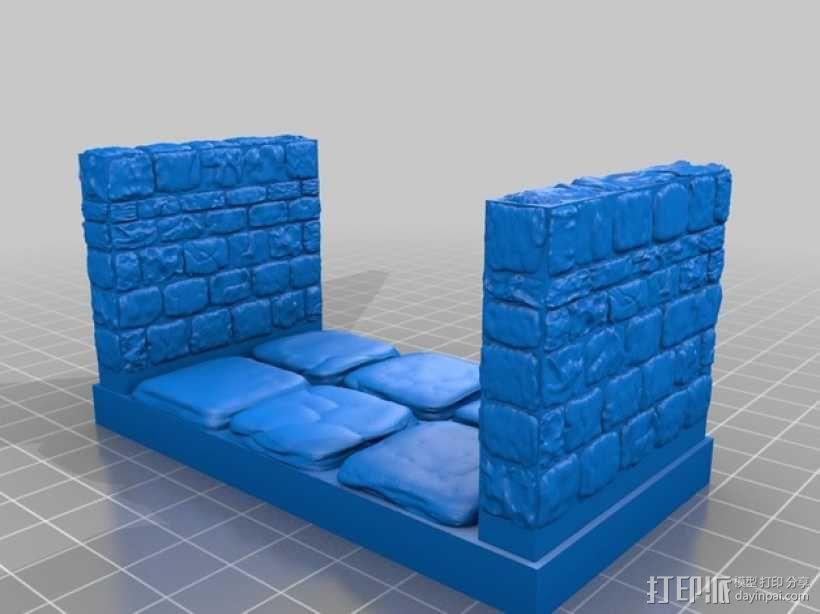 OpenForge雉堞走廊模型 3D模型  图9