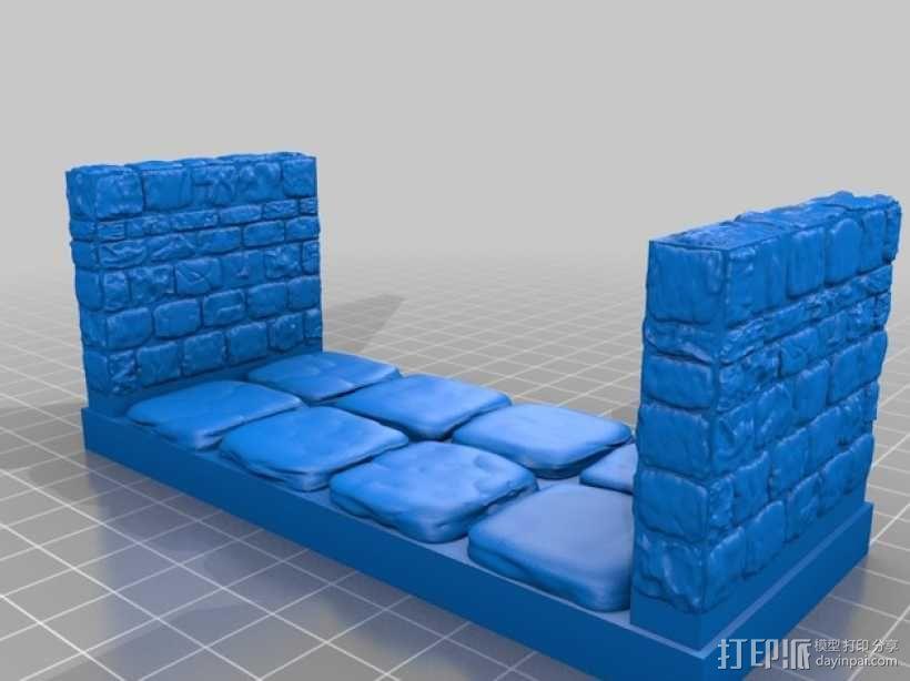 OpenForge雉堞走廊模型 3D模型  图10