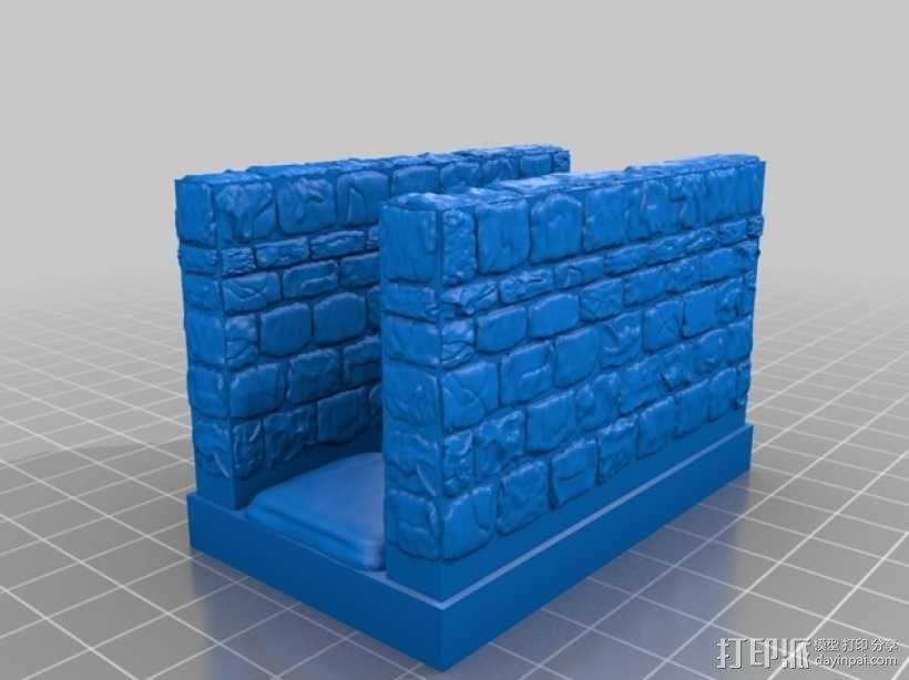 OpenForge雉堞走廊模型 3D模型  图11