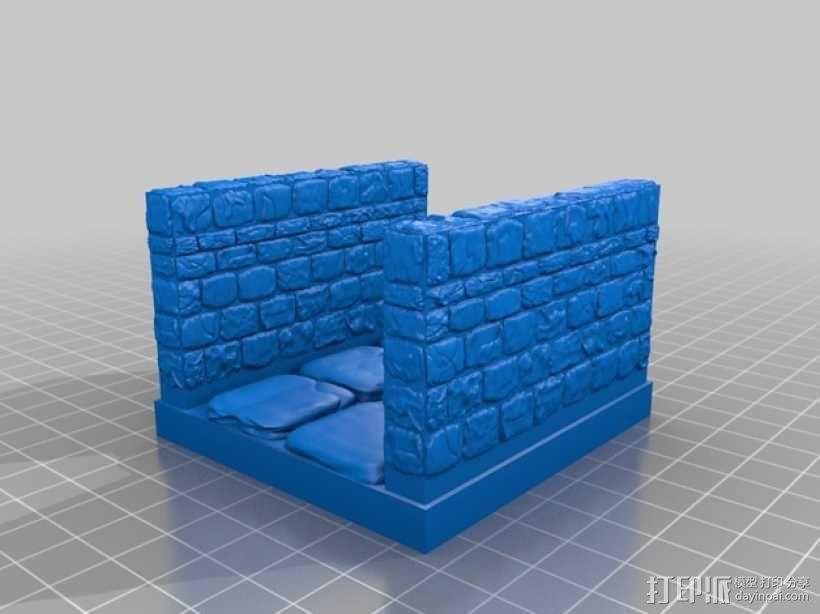 OpenForge雉堞走廊模型 3D模型  图12