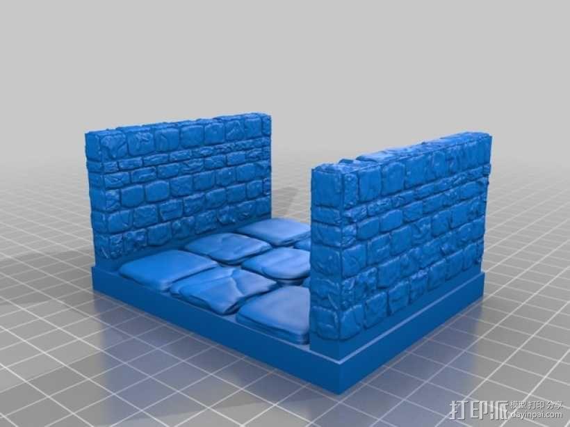 OpenForge雉堞走廊模型 3D模型  图13