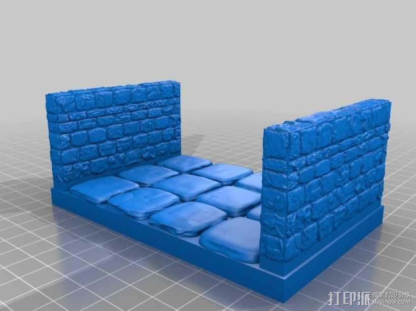 OpenForge雉堞走廊模型 3D模型  图14