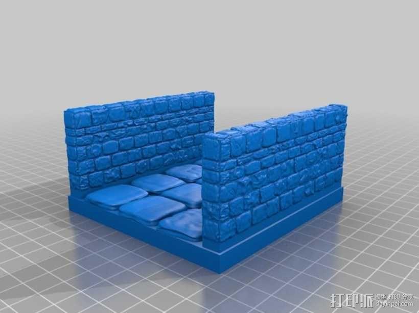 OpenForge雉堞走廊模型 3D模型  图17