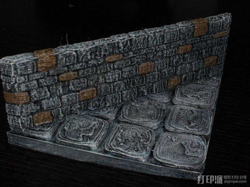 OpenForge地牢斜墙模型 3D模型  图1