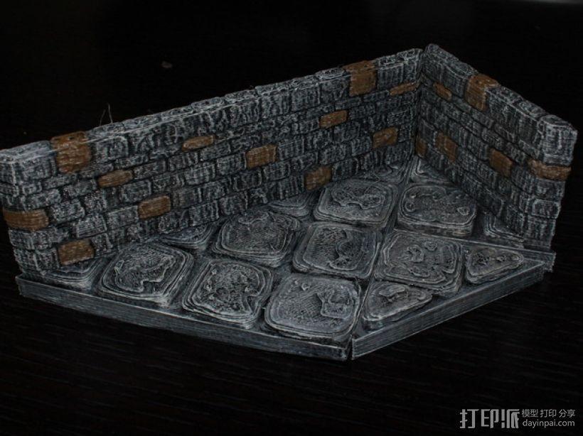 OpenForge地牢斜墙模型 3D模型  图4
