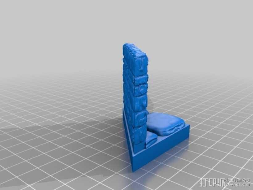 OpenForge地牢斜墙模型 3D模型  图7