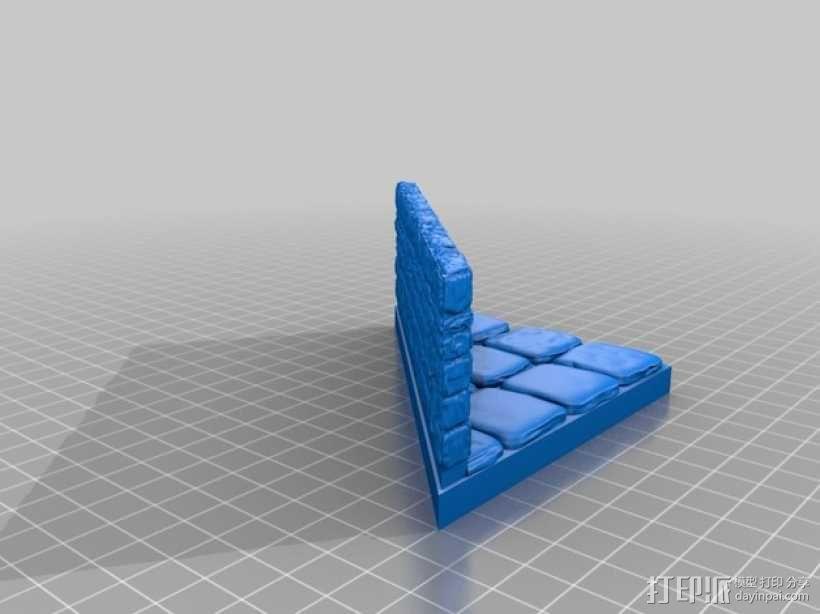 OpenForge地牢斜墙模型 3D模型  图11